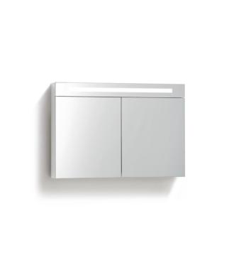 Spiegelkast 80 cm met TL Verlichting Wit
