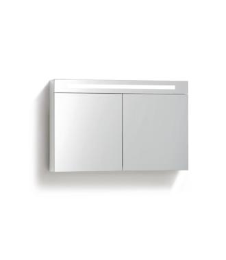 Spiegelkast 120 cm met TL Verlichting Wit