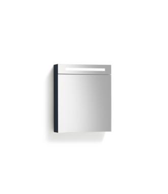 Spiegelkast 58 cm met TL Verlichting Antraciet