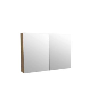 Spiegelkast 100 cm Wood Eiken