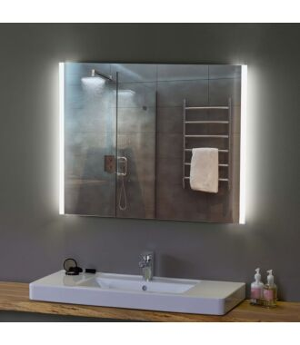 Badkamerspiegel met LED Verlichting 60 cm met Zijverlichting Duo Ambiance met Verwarming Anti Condens