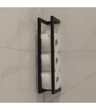 Reserve Toiletrolhouder Mat Zwart Frame Beugel