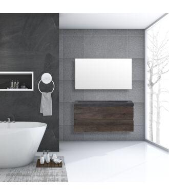 Badkamermeubel Trento Greeploos Natuursteen 120 cm Century Oak