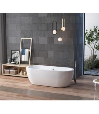 Vrijstaand Bad met Dikke Rand