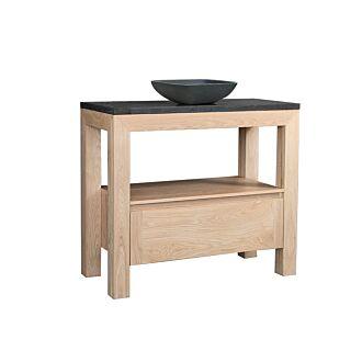 Badkamermeubel Rubio Wood Eiken met Sub Kom 100 cm