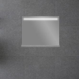 Badkamerspiegel met LED Verlichting met Onderverlichting 80 cm met Spiegelverwarming