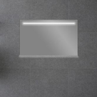 Badkamerspiegel met LED Verlichting met Onderverlichting 140 cm met Spiegelverwarming