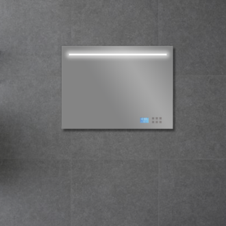 Badkamerspiegel met LED/TL Verlichting, Radio en Bluetooth 80 cm met Spiegelverwarming