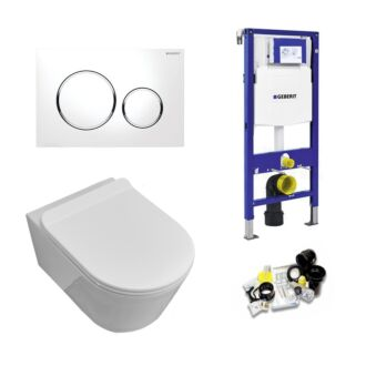 Geberit UP320 Toiletset Sani Royal Easy Flush Slim Rimfree 55 cm Sigma 20 chroom/wit