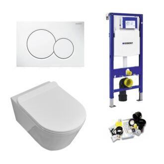 Geberit UP320 Toiletset Sani Royal Easy Flush Slim Rimfree 55 cm Sigma 01 Wit