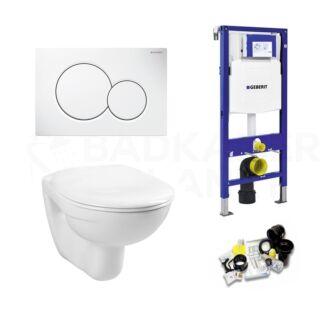 Geberit UP320 Toiletset Simple Basic Inclusief Zitting & Drukplaat Sigma 01 Wit