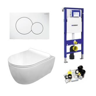Geberit UP320 Toiletset Sani Royal Standaard Rimfree Flatline 55 cm Sigma 01 Wit