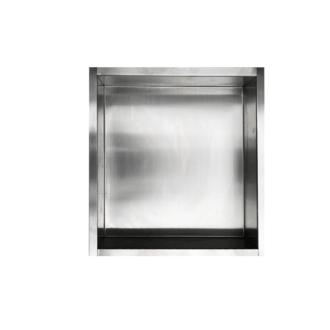 Inbouwnis 30x30x7 cm RVS