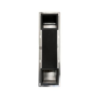 Inbouw Toilet Reserve Rolhouder met 1 Houder RVS Mat Zwart