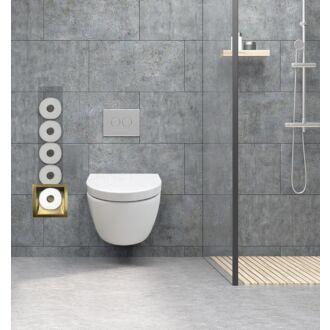 Inbouw Toilet Reserve Rolhouder RVS Geborsteld Goud