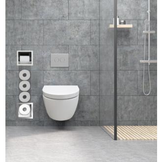 Inbouw Toilet Reserve Rolhouder met 1 Houder RVS