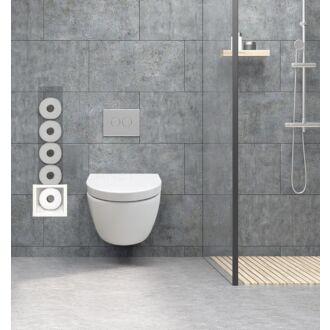 Inbouw Toilet Reserve Rolhouder RVS Wit