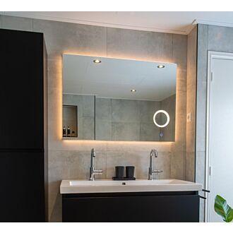 Badkamerspiegel met LED Verlichting en Make Up Spiegel met Touch en Dimbaar in 3 standen 120 cm