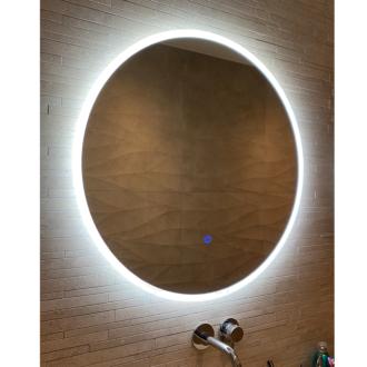 Ronde Badkamerspiegel met LED Verlichting met Touch en Dimbaar in 3 Standen 80 cm met Spiegelverwarming