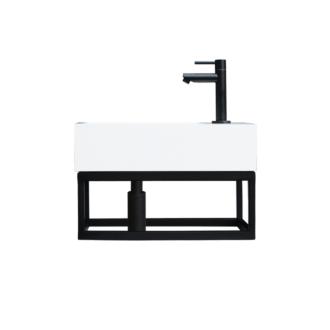 Fontein Frame Mat Zwart Solid Surface Mat Zwart 40x22x10 cm