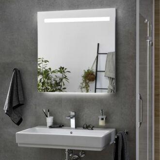 Badkamerspiegel met LED Verlichting met Onderverlichting 60 cm met Spiegelverwarming