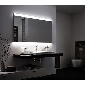 Badkamerspiegel met LED verlichting 80 cm Boven en Onderverlichting Classic met Verwarming Anti Condens