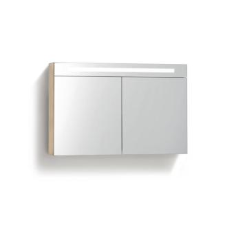 Spiegelkast 120 cm met TL Verlichting Light Wood