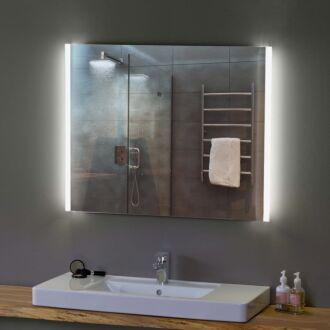 Badkamerspiegel met LED Verlichting 80 cm met Zijverlichting Duo Ambiance met Verwarming Anti Condens