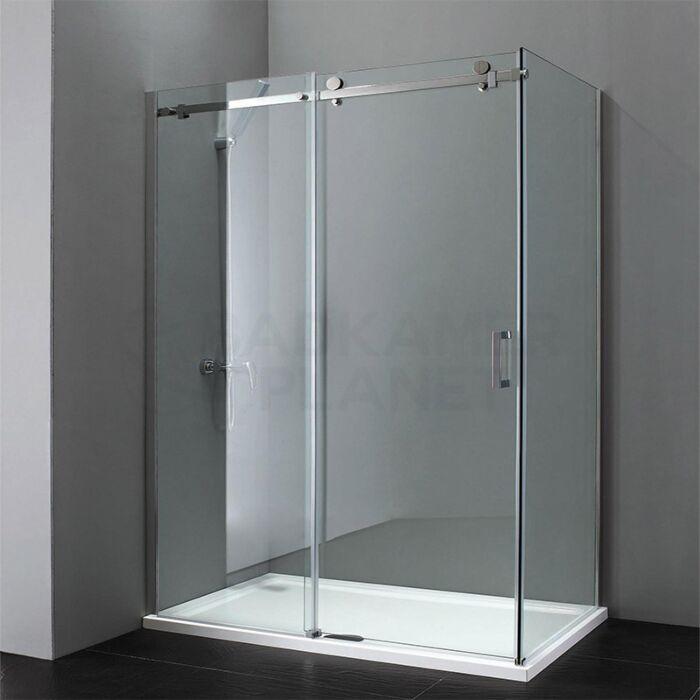 Douchecabine 100 X 80.Douchecabine Met Schuifdeur Vaste Wand 100x80 Cm