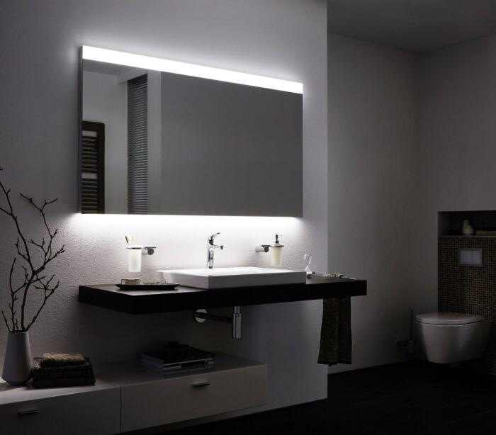 Badkamerspiegel Met Led Verlichting 100 Cm Boven En Onderverlichting Classic Met Verwarming Anti Condens